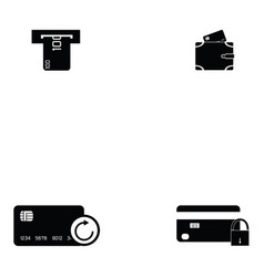 credit cards icon set vector image
