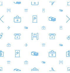 Cross icons pattern seamless white background vector