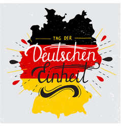 Day german unity lettering vector