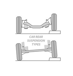 Difference between car rear suspension types vector