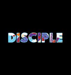 Disciple concept word art vector