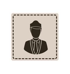 Emblem guard person icon vector