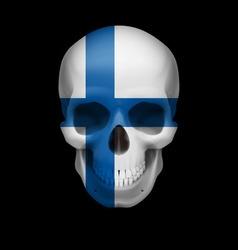 Finnish flag skull vector
