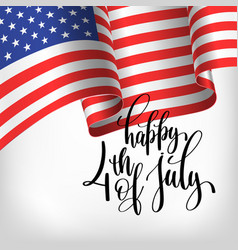 Happy 4th july usa independence day banner vector