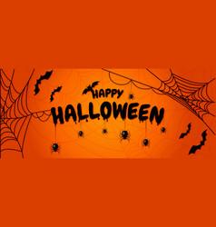 happy halloween lettering design for halloween vector image