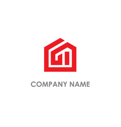 home realty building logo vector image