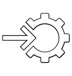 Integration arrow contour icon vector