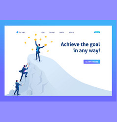 Isometric achieve success to achieve goal vector