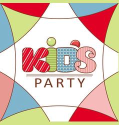 kids zone logo hand grawn lettering vector image