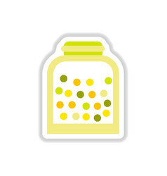 label icon on design sticker collection candy in vector image