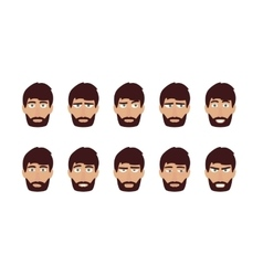 Man emotions and expressions Flat user vector image