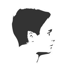 man monochrome portrait vector image