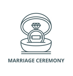 marriage ceremony line icon linear concept vector image