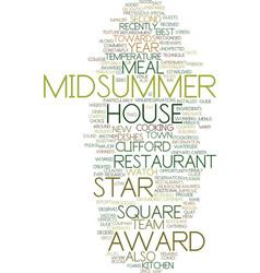 Midsummer house awards text background word cloud vector