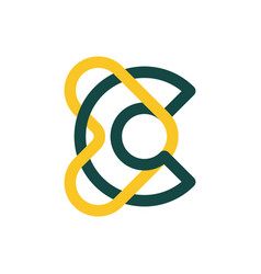 Modern professional logo monogram c and heart vector