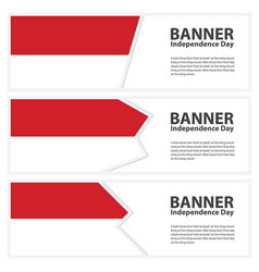 Monaco flag banners collection independence day vector