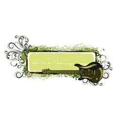 music frame vector image