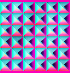 neon color triangle seamless pattern vector image