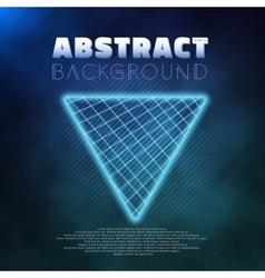 Neon Poster Template Retro Disco 80s Background vector