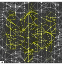 Network Abstract Background 3d Technology vector image