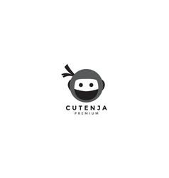 Ninja cute head unique logo icon vector