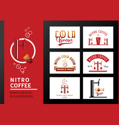 nitro coffee badge design and vector image