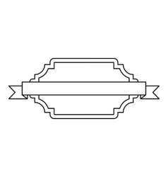 One ribbon icon outline style vector