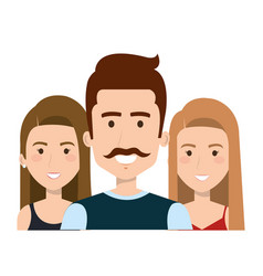People faces design vector