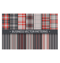 plaid pattern seamless ornate set business vector image
