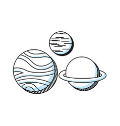 planets education space line icon vector image