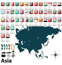 Political map asia vector