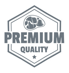 premium meat quality logo simple style vector image