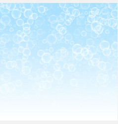 Random soap bubbles abstract background blowing b vector