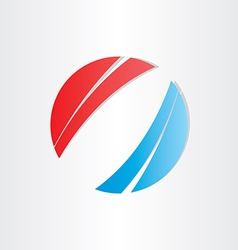 Red blue abstract background circle vector
