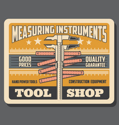 Repair and construction measure tools shop vector
