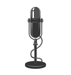 Retro monochrome microphone icon vector