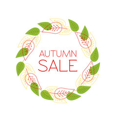 round frame with the text autumn sale a wreath vector image