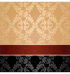 Seamless pattern floral decorative background maro vector