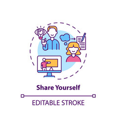 Share yourself concept icon vector