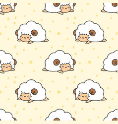 sleeping sheep seamless pattern background vector image