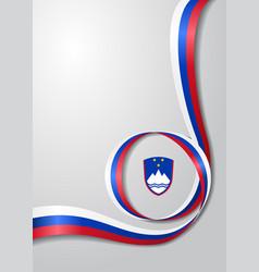 Slovenian flag wavy background vector