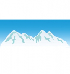 Snowy mountains vector
