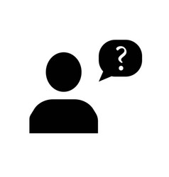 speech bubble with question mark in man head icon vector image