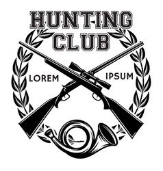 Sports monochrome badge with weapon and vector