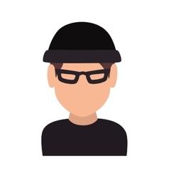 Thief robber criminal man vector
