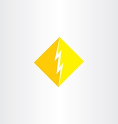 thunder logo icon symbol sign vector image