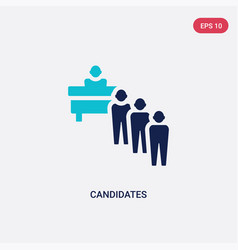 Two color candidates icon from human resources vector