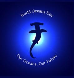 World oceans day 2 vector