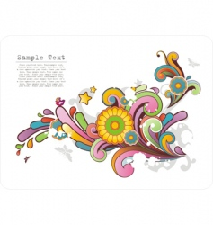 colored ornament with floral motives vector image vector image