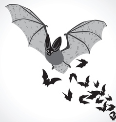bat graphic art b vector image vector image